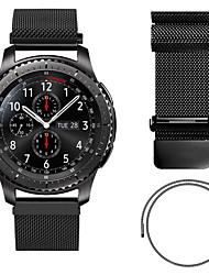 billiga -Klockarmband för Gear S3 Classic Samsung Galaxy Milanesisk loop Metall / Rostfritt stål Handledsrem