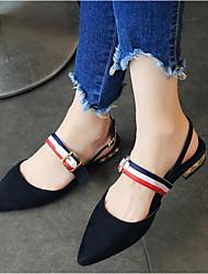 Недорогие -Жен. Обувь Флис Лето Удобная обувь На плокой подошве На низком каблуке Заостренный носок Черный / Желтый / Темно-серый