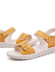 preiswerte -Mädchen Schuhe Leder Sommer Komfort Sandalen für Gelb / Blau / Rosa