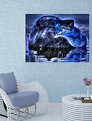 Недорогие -Наклейка на стену Декоративные наклейки на стены Напольные наклейки - 3D наклейки 3D Положение регулируется
