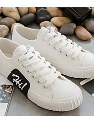 povoljno -Žene Cipele Platno Proljeće Jesen Udobne cipele Sneakers Niska potpetica za Kauzalni Obala Crn Bijela
