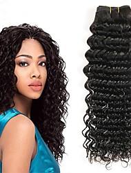 baratos -Cabelo Peruviano Ondulado Extensões de Cabelo Natural Tramas de cabelo humano extensão / Venda imperdível Preto Natural Todos