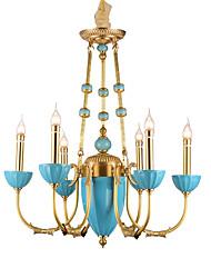 billige -ZHISHU Lysestager Op Lys - Krystal Ministil, Rustikt / hytte Tradisjonell / Klassisk, 110-120V 220-240V Pære Inkluderet
