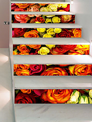 cheap -Wall Decal Decorative Wall Stickers Floor Stickers - 3D Wall Stickers 3D Floral / Botanical Re-Positionable Removable