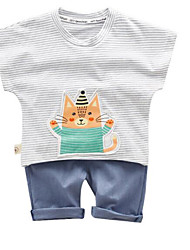 cheap -Baby Boys' Striped Short Sleeves Clothing Set