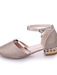 Недорогие -Жен. Обувь Искусственное волокно Осень Удобная обувь На плокой подошве На плоской подошве Круглый носок Аппликации Золотой / Серебряный