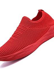 お買い得  -男性用 靴 チュール ネット 春 夏 ライト付きソール コンフォートシューズ スニーカー のために カジュアル アウトドア ブラック グレー レッド