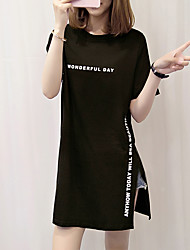 cheap -Women's Cotton T-shirt - Letter / Summer