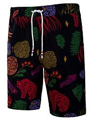 baratos -calças de chinos masculinas plus size - floral