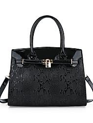 cheap -Women's Bags leatherette / PU Tote Zipper Black / Red / Brown