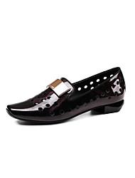 abordables -Femme Chaussures Cuir Printemps Eté Confort Mocassins et Chaussons+D6148 Talon Bas Bout carré pour Violet Rose