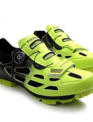 preiswerte -Tiebao® Herrn Mountainbikeschuhe Nylon und Carbonfaser Radsport / Fahhrad Rutschfest, tragbar, Atmungsaktivität Atmungsaktive Mesh Grün /