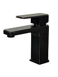 cheap -Bathroom Sink Faucet - Widespread Oil-rubbed Bronze Centerset Single Handle One Hole