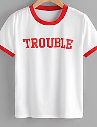 economico -T-shirt Per donna Essenziale Con stampe,Alfabetico