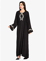 cheap -Women's Sophisticated Street chic Shift Swing Abaya Dress - Solid Colored Floral, Lace up