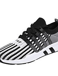 cheap -Men's Light Soles Tulle / PU(Polyurethane) Spring / Fall Comfort Athletic Shoes Running Shoes Striped Gray / Black / Red / Color Block