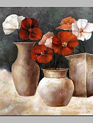 cheap -Oil Painting Hand Painted - Still Life Floral / Botanical Classic Canvas