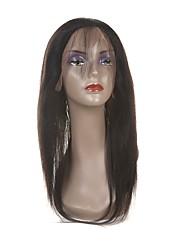 Недорогие -Laflare Малазийские волосы 360 Лобовой Прямой Бесплатный Часть / Средняя часть / 3 Часть Швейцарское кружево Натуральные волосы Жен. С детскими волосами / Для темнокожих женщин