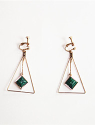 cheap -Long Drop Earrings - Simple, Korean, Fashion Dark Green For Party / Evening / Gift