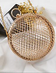 povoljno -Žene Torbe Metal Večernja torbica Pletena ljetna obuca za Vjenčanje Zabave Sva doba Zlato