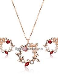 cheap -Women's Cubic Zirconia Zircon / Gold Plated Jewelry Set 1 Necklace / Earrings - Formal / Dresswear Geometric Gold Jewelry Set / Stud