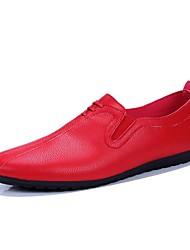 povoljno -Muškarci Cipele PU Proljeće Ljeto Mokasine Udobne cipele Natikače i mokasinke za Kauzalni Obala Crn Crvena