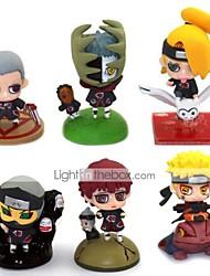 economico -Figure Anime Azione Ispirato da Naruto Naruto Uzumaki PVC 5.5 cm CM Giocattoli di modello Bambola giocattolo