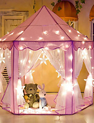 economico -Girl Princess Pink Castle Tents Tende e tunnel per bambini Stoffe Per bambini Regalo 1pcs