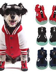 baratos -Cachorros Sapatos e Botas Esporte & lazer Ultra Slim Galáxia Malha Moderno Preto Vermelho Azul Para animais de estimação