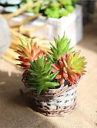 Недорогие -Искусственные Цветы 1 Филиал Обычные / Пастораль Стиль Суккулентные растения Букеты на стол