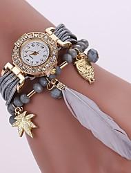 Недорогие -Жен. Часы-браслет Китайский Повседневные часы PU Группа На каждый день / Мода Черный / Белый / Синий / Один год