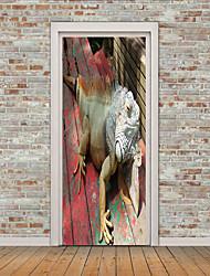 Недорогие -Животные 3D Наклейки Простые наклейки 3D наклейки Декоративные наклейки на стены Наклейки на холодильник, Винил Украшение дома Наклейка