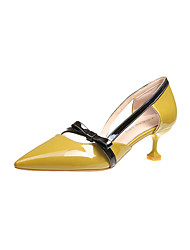 cheap -Women's Shoes Suede Fall Comfort Flats Low Heel Pointed Toe for Casual Beige Yellow Pink