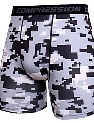 abordables -Hombre Shorts apretados de running - Gris oscuro, Rojo, Azul Deportes camuflaje Licra Shorts / Malla corta Ropa de Deporte Ligeras,