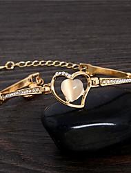 Недорогие -Жен. Браслет - Сердце Милая Браслеты Золотой Назначение Для вечеринок Подарок