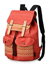 Недорогие -Жен. Мешки рюкзак Бусины / Пуговицы для на открытом воздухе Синий / Коричневый / Оранжевый