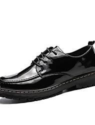 お買い得  -男性用 靴 レザーレット 春 秋 ライト付きソール オックスフォードシューズ のために カジュアル ブラック
