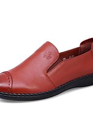 povoljno -Žene Cipele Koža Proljeće Jesen Udobne cipele Natikače i mokasinke Ravna potpetica za Kauzalni Crn Braon