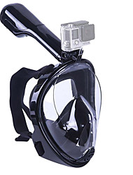 cheap -Snorkel Mask Diving Mask Leak-Proof 180 Degree View Full Face Mask Swimming Diving Silicone