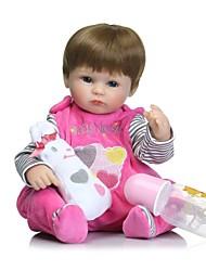 economico -NPKCOLLECTION Bambole Reborn Bambine 16 pollice Silicone per tutto il corpo / Silicone - Ciglia applicate a mano, Chiodi con punta e sigillati, Testa floscia Per bambino Unisex Regalo