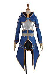 abordables -Inspiré par Sword Art Online Cosplay Manga Costumes de Cosplay Costumes Cosplay Autre Manches Longues Manteau Jupe Gants Tablier Plus