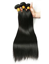 Недорогие -3 Связки Бразильские волосы Прямой 8A Натуральные волосы Накладки из натуральных волос 8-28 дюймовый Естественный цвет Ткет человеческих волос Удлинитель Лучшее качество Расширения человеческих волос