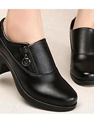 povoljno -Žene Cipele PU Proljeće Jesen Čizmice Čizme Kockasta potpetica Čizme gležnjače / do gležnja za Kauzalni Crn Braon Crvena