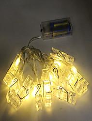 Недорогие -1,5 м Гирлянды 10 светодиоды ДИП светодиоды Тёплый белый / RGB Декоративная Аккумуляторы AA 1шт