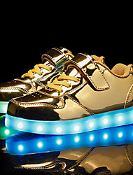 cheap -Boys' / Girls' Shoes PU Spring Light Up Shoes Sneakers LED for Kid's Gold / Silver / Pink