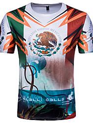 povoljno -Majica s rukavima Muškarci - Ulični šik Dnevno Sport Color block Slovo Životinja Print