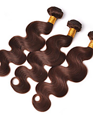 cheap -Brazilian Hair Wavy Human Hair Weaves 3 Pieces Soft 100% Virgin Hot Sale Human Hair Extensions One Pack Solution Hair Weft with Closure