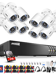 cheap -ANNKE® 8CH 1080P Security Cameras System with 1TB Hard Drive 8pcs IP Cameras