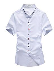 billige -Herre - Ensfarvet Basale Skjorte