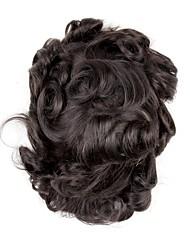 cheap -Men's Human Hair Toupees Wavy Full Lace Soft / Man Weave / Hot Sale